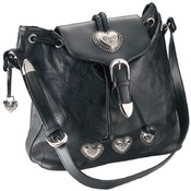 Italian Stone Design Leather Shoulder Bag