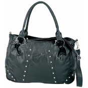 "17"" Studded Genuine Lambskin Leather Purse"