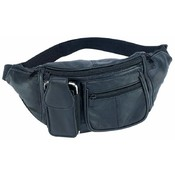 Embassy Genuine Lambskin Leather 6 Pocket Waist Bag Wholesale Bulk