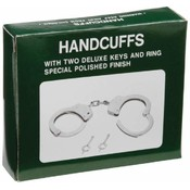Maxam Chrome-Plated Steel Handcuffs with Pouch