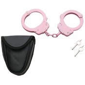 Maxam Chain-Linked Steel Handcuffs with Pouch
