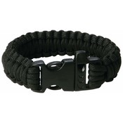 9&quot; Black Paracord Bracelet with Whistle Buckle