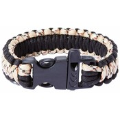 9&quot; Desert Camo and Black Paracord Bracelet