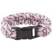 Maxam 8&quot; Pink Camo Paracord Bracelet