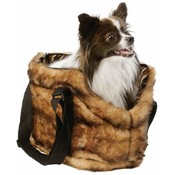 Maxam Pet Club Faux Mink Pet Carrying Bag