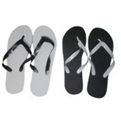 Marc Gold Women's Flip Flops- Black and White