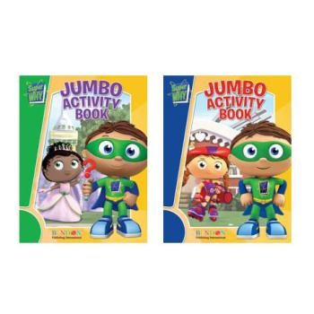 wholesale super why jumbo coloring activity book sku 394304 dollardays