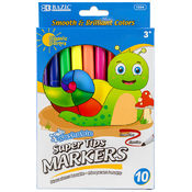 BAZIC 10 Color Fine Line Washable Markers