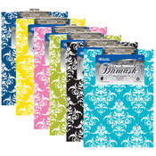 BAZIC Standard Size Damask Paperboard Clipboard