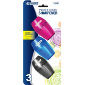 BAZIC Single Hole Sharpener w/ Receptacle (3/pack)