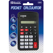 BAZIC 8-Digit Pocket Size Calculator w/ Flip Cover