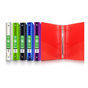 "BAZIC 1"" Diamond Poly 3-Ring Binder"