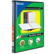 BAZIC 1/2&quot; Black PVC 3-Ring View Binder