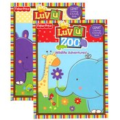 Luv U Zoo Giant Coloring & Activity Book