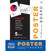"BAZIC 11"" X 14"" White Poster Board (10/Pack)"