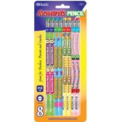 BAZIC Reward &amp;amp; Incentive Wood Pencils w/ Eraser