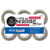 BAZIC 1.89 X 55 Yard Clear Packing Tape (6/pack) Wholesale Bulk