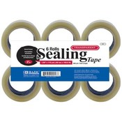 "BAZIC 1.89"" X 110 Yards Clear Packing Tape (6/pack"