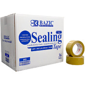 "BAZIC 1.89"" X 110 Yards Tan Packing Tape (6/pack)"