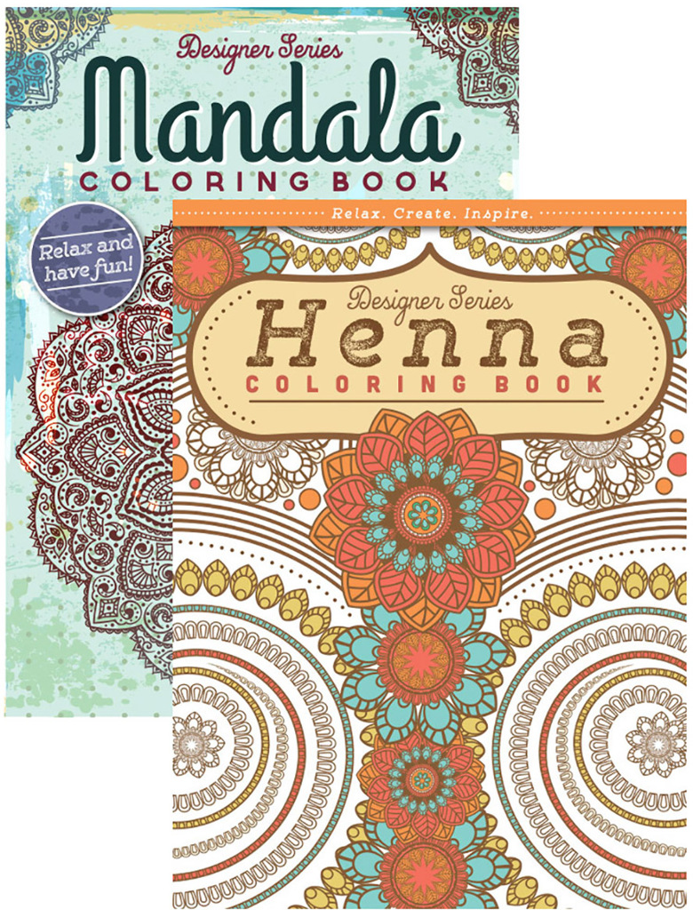 Wholesale henna mandala coloring book for adults sku Coloring books for adults wholesale