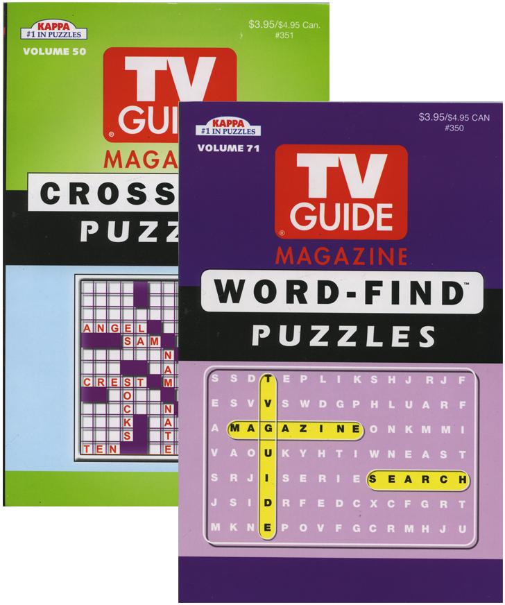 KAPPA TV Guide Word Finds & Crossword Puzzles Book - Digest Size (311403)