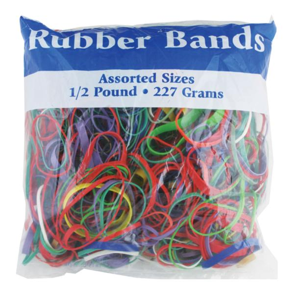 Assorted Dimensions 227g/0.5 lbs. RUBBER BANDS [703540]
