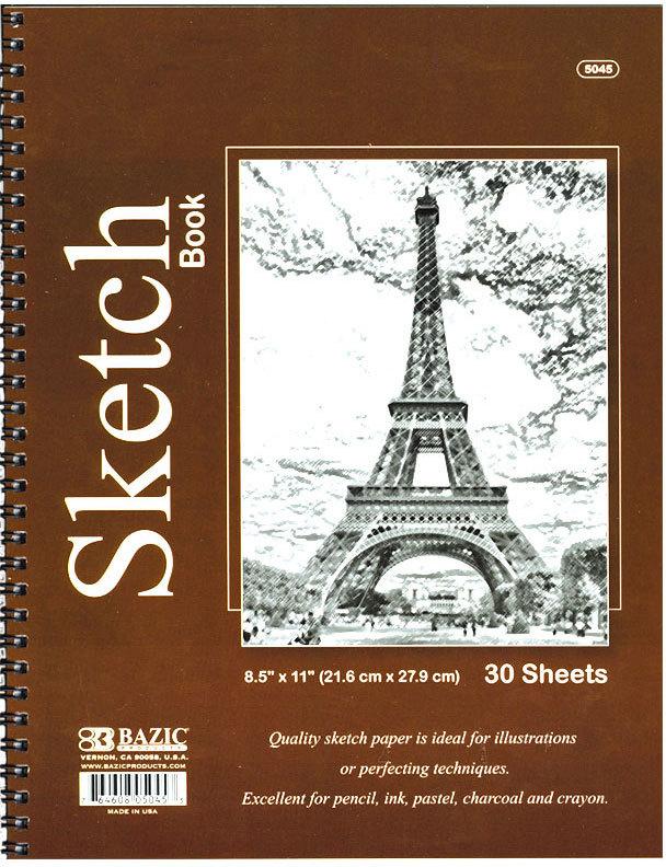 ''BAZIC 30 Ct. 8.5'''' X 11'''' Side Bound Spiral Premium [1982955]''