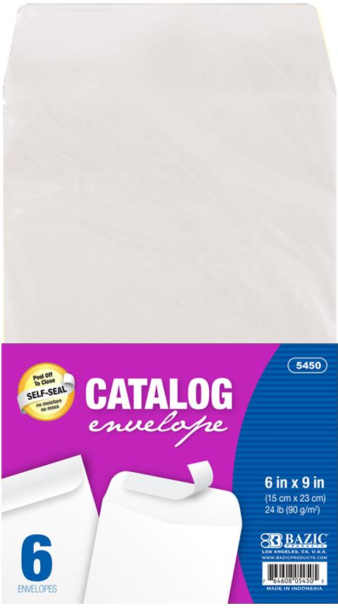 ''6'''' x 9'''' Self-Seal White Catalog Envelope (6/Pack) [1981978]''