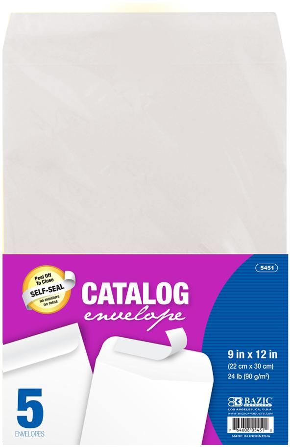 ''9'''' x 12'''' Self-Seal White Catalog Envelope (5/Pack) [1981979]''
