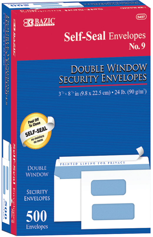 #9 Self-Seal Security Double Window ENVELOPES [1981976]