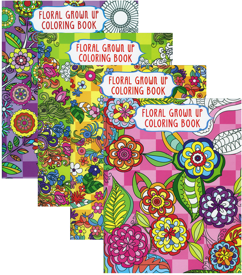 Wholesale Floral Coloring Book For Adults Sku 1995931