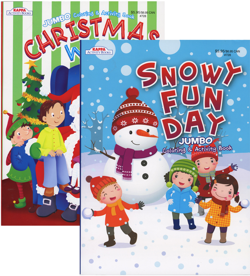 wholesale kappa jumbo christmas coloring activity book sku 1931387 dollardays
