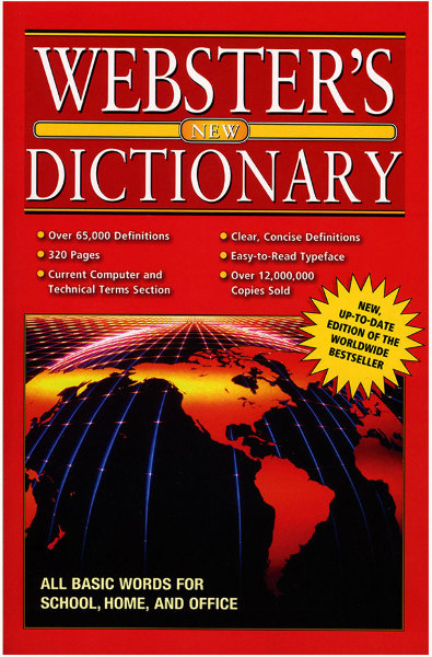 WEBSTER Jumbo 320 Pg. English-English Dictionary (311510)