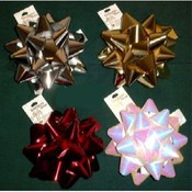 "7"" Star - Bow Assortment - Gift Decoration"