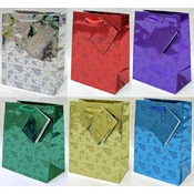 Small Holographic Christmas Print Bags Wholesale Bulk