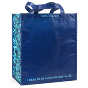 Gemline 100% Recycled Shopper Caribbean Blue/Navy One Size