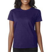 Gildan Ladies' T-Shirt Purple XL