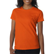 Gildan Ladies' T-Shirt Orange M