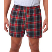 Robinson Adult Flannel Shorts Black Stewart L Wholesale Bulk