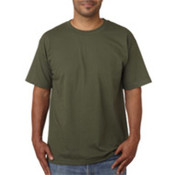 Bayside Adult Short-Sleeve Cotton Tee Olive Green S