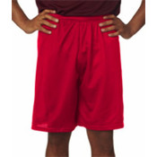 "C2 Sport Adult Mesh/Tricot 9"" Shorts Red L"