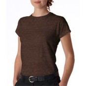 Gildan Junior-Fit Softstyle T-Shirt Heather Dark Chocolate S