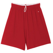 "Mens Badger Jersey Short with 7"" Inseam Red Large"