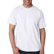 UltraClub Organic Men's Ring-Spun Organic Cotton Short-Sleeve Tee - White (3XL) Wholesale Bulk