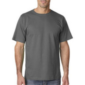 UltraClub Organic Men's Ring-Spun Organic Cotton Short-Sleeve Tee - Graphite (3XL) Wholesale Bulk