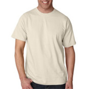 UltraClub Organic Men's Ring-Spun Organic Cotton Short-Sleeve Tee - Stone (4XL) Wholesale Bulk