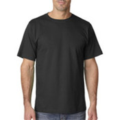 UltraClub Organic Men's Ring-Spun Organic Cotton Short-Sleeve Tee - Black (L) Wholesale Bulk