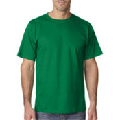UltraClub Organic Men's Ring-Spun Organic Cotton Short-Sleeve Tee - Kelly (S) Wholesale Bulk