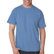 UltraClub Organic Men's Ring-Spun Organic Cotton Short-Sleeve Tee - Cornflower (M) Wholesale Bulk