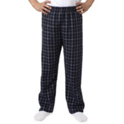 Robinson Youth Gridiron Flannel Pants, Navy/ Grey, S Wholesale Bulk